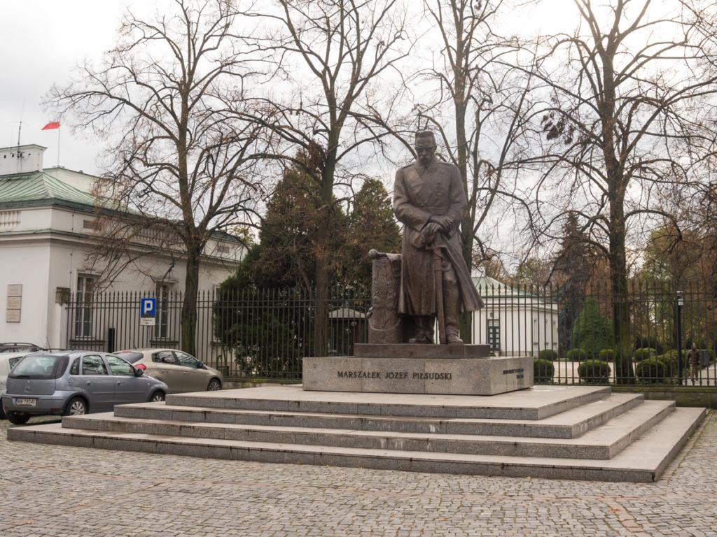 Das Denkmal von Józef Piłsudski