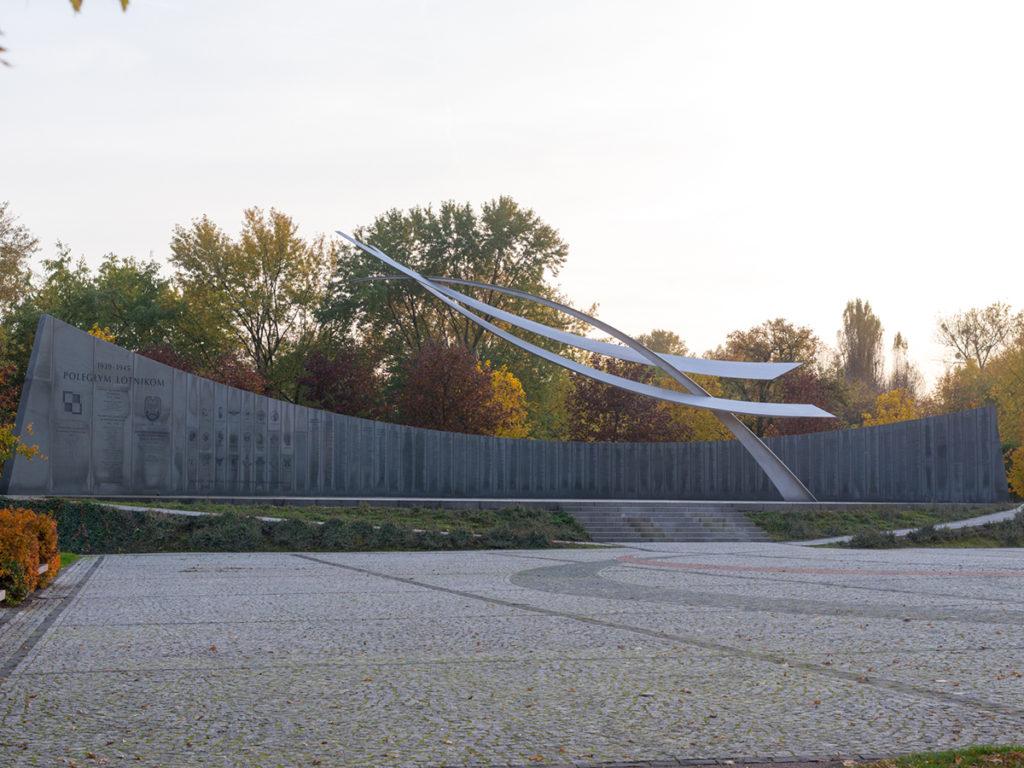 Das Denkmal zum Ehren der gefallenen Flieger im Zweiten Welt Krieg