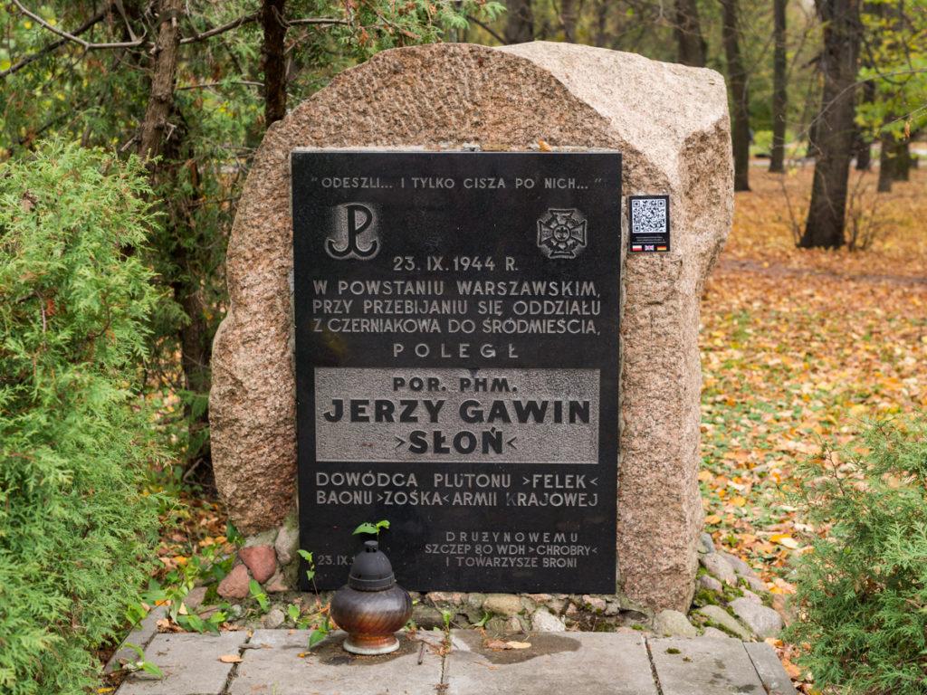 Kamień Pamięci Jerzego Gawina